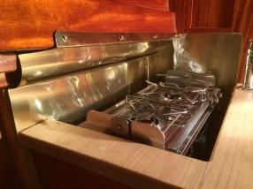 Herreschoff Rozinante kitchen.